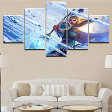 DOTA 2 Game HD Print Canvas Printed 5 Pieces Painting Wall Art Living Room Artwork Modern Decorative Home Poster