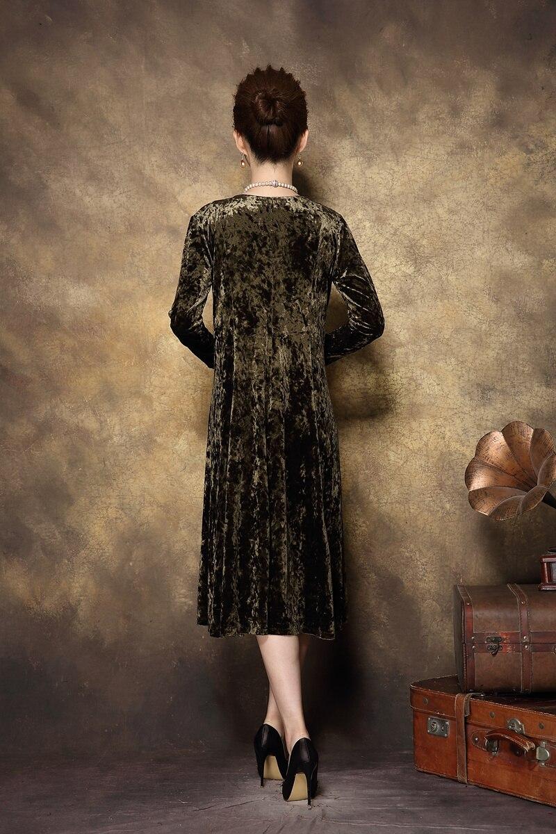 Vintage La Taille Robe Broderie Élégante Xxxxl Soirée De Longue Plus Femmes 2017 Gamme Mûr D'âge Automne Hiver Velours Haut Color Or Photo qw6OvxBUg