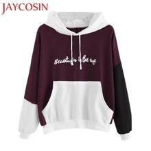 JAYCOSIN JUNE 2018 Womens Autumn Winter Warm Letters Long Sleeve Hoodie Sweatshirt Hooded Pullover Tops Blouse Drop Shipping 109