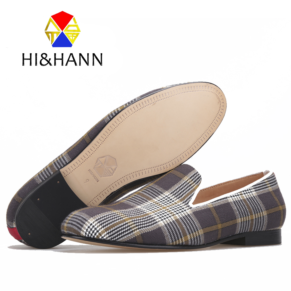 Luxurious Handmade men Gingham loafers British style Genuine Leather insole and bottom men dress shoes Wedding Prom male's flats 2017 new arrival comfortable genuine leather bottom and insole men loafers colourful banquet men handmade shoes party male flats