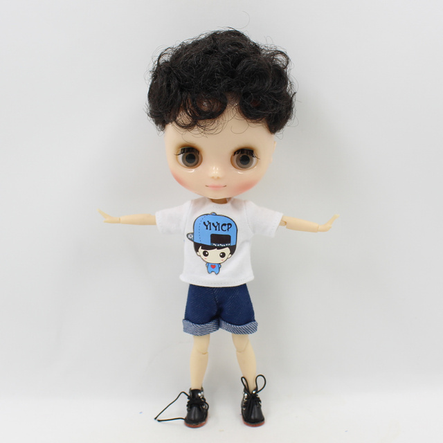 Middle Blyth Doll 20cm Outfit Stripe Shirt Pants Cool Style Free Shipping