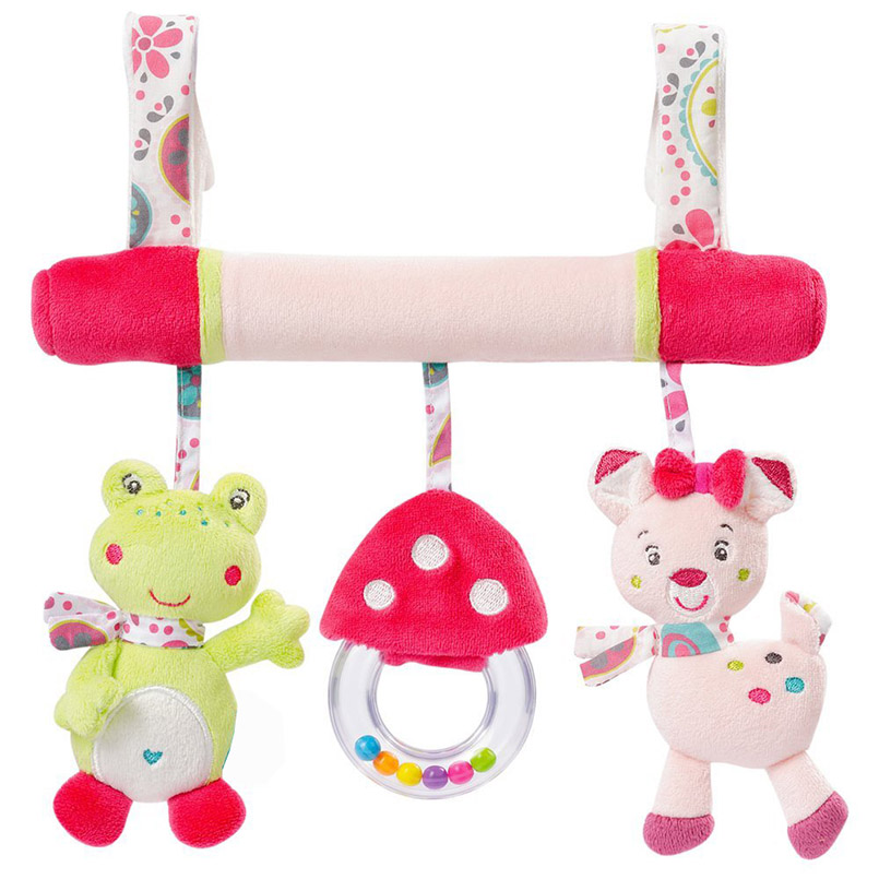 Apaffa Animal soft Plush Bed Hanging Rattles Crib Bed Stroller Toys For Baby Strollers Dolls Baby Toys For 0-12 Month