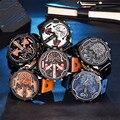 Lechosa xinew hombres fecha de cuarzo analógico reloj de cuero de moda de lujo del deporte para hombre relojes de pulsera reloj jan9