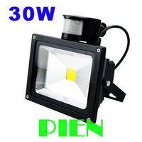 Sensor LED Floodlight 30W Motion Detector Black Outdoor Lighting Landscape Lamp 85V 265V High Power By