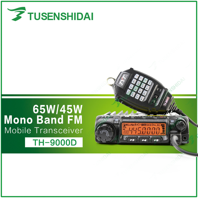 Free Shipping UHF 400-490 TYT Long Range TH-9000D Mobile Radio with Programming Cable and Software