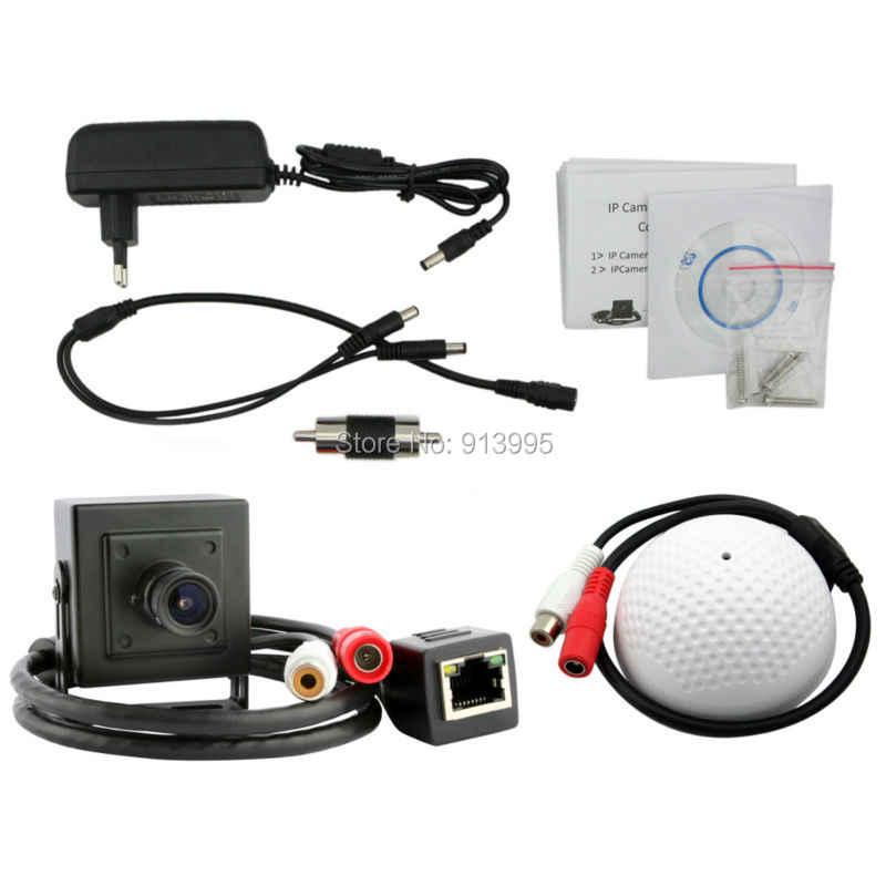 HD 1,0 мегапиксельная камера onvif p2p plug and play mic ip камера с обнаружением движения мини Сетевая камера видео наблюдения, ip-камера с 720 P RTSP с Аудио Микрофон
