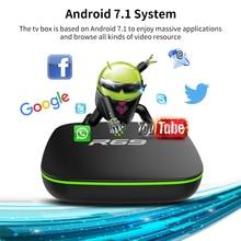 Mini R69 Android 7.1 akıllı TV kutusu 1GB 8GB Allwinner H3 dört çekirdekli 2.4G Wifi Set Top Box 1080P HD desteği 3D film