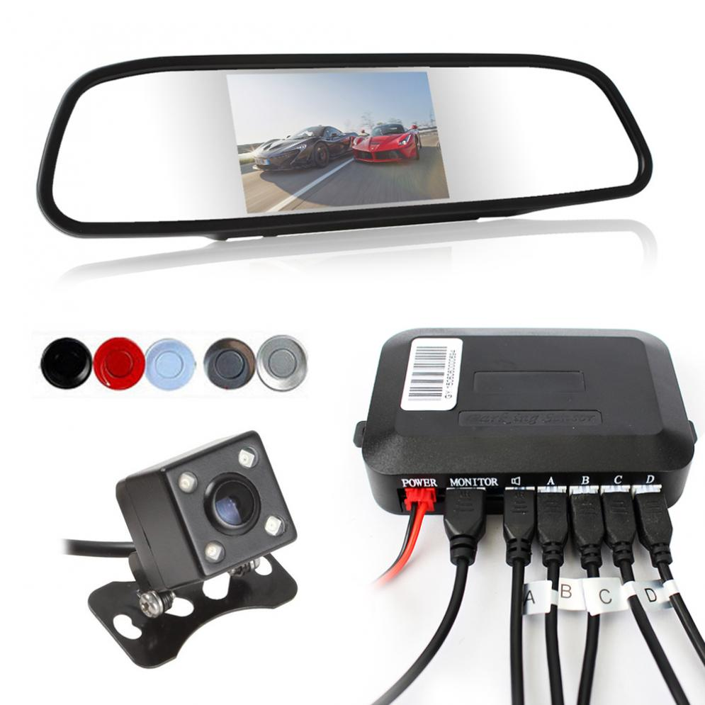 Dual Core CPU Car Video Parking Sensor Reverse Backup Radar Assistance + Auto parking Monitor Digital Display and Step-up Alarm switchcraft e112bl