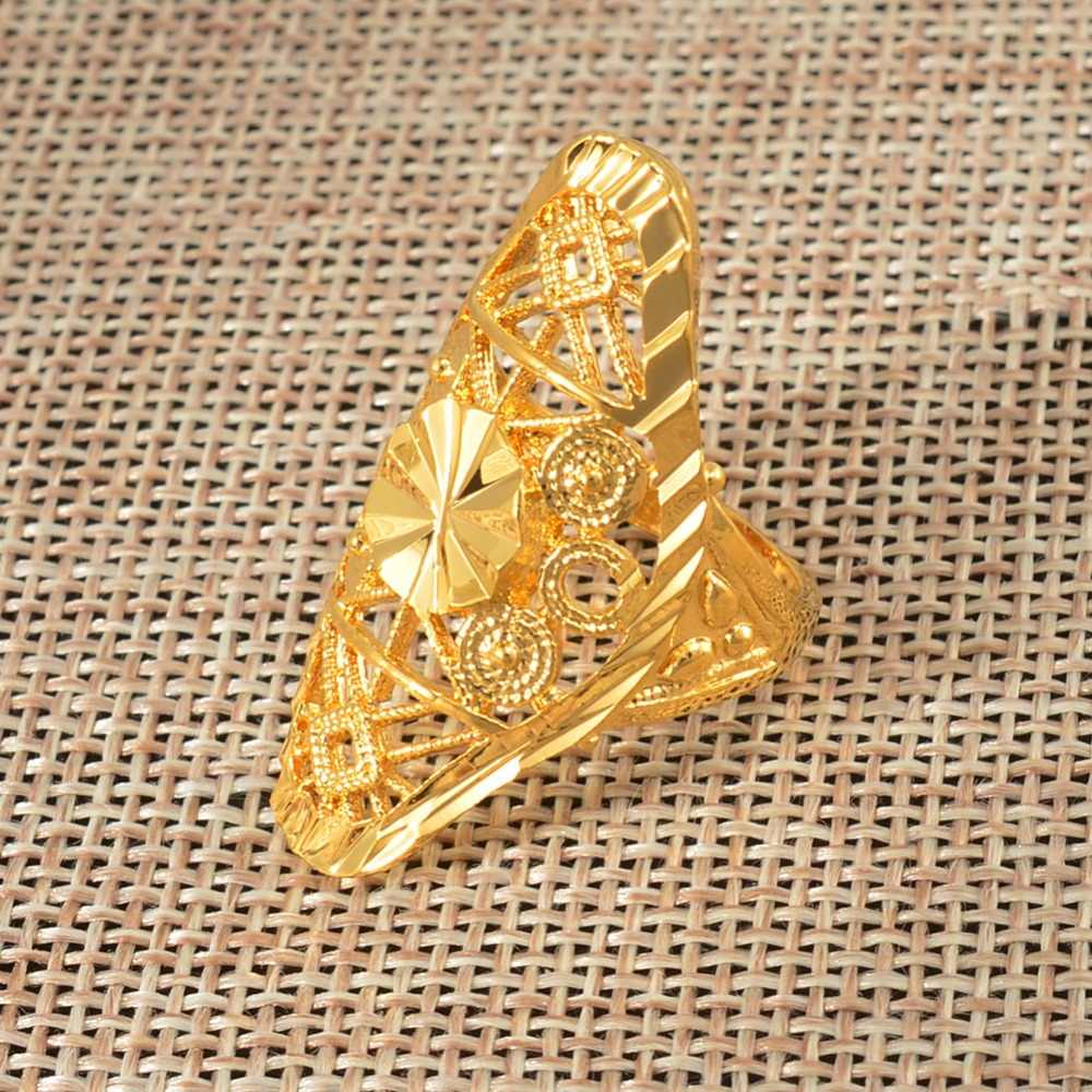 df32b13dfa25d Anniyo Gold Ring for Women Gold Color Africa Ring Ethiopian Jewelry Arab  India Nigeria Middle East Metal Free Size Rings #034606