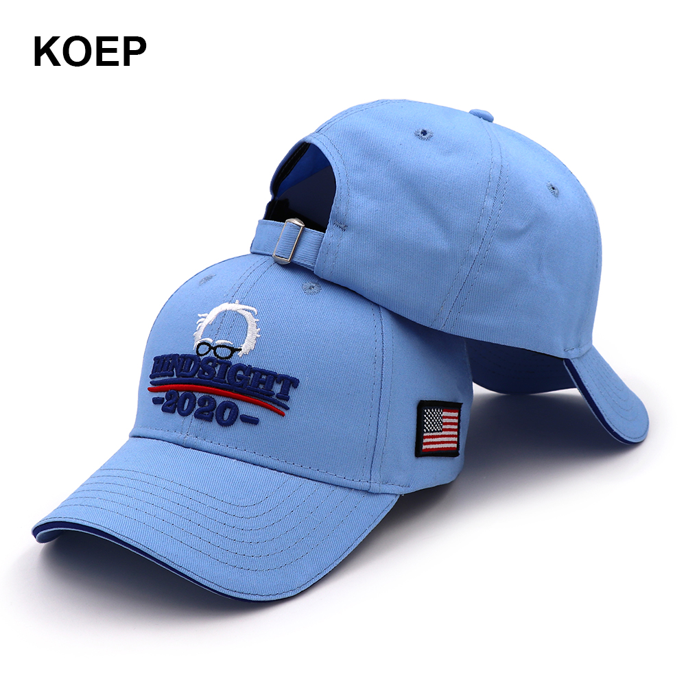 KOEP Bernie Sanders 2020   Cap   USA Flag   Baseball     Caps   Keep America Great Snapback Hat 3D Embroidery Star Letter Hindsight Hats