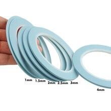 Blauw Mix 6Rolls High Temp Vinyl Fijne Lijn Fineline Masking Tape Automotive Auto Auto Verf 1 Mm 1.5mm 2 Mm 2.5 Mm 3 Mm 4 Mm