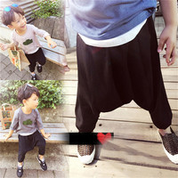 Summer Hot Selling Solid Fashion Children Pants Girls Boys Wild Harem Pants Kids Casual Sports Trousers