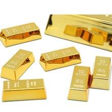 1 шт. креативные магниты на холодильник в форме золотого кирпича, подарок для дома, украшение на холодильник, сувенир, подарок на день рождения
