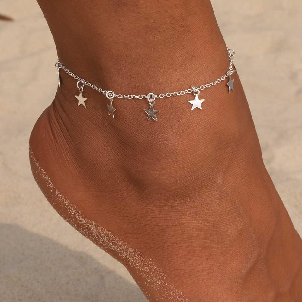 Vienkim Star จี้สร้อยข้อเท้าเท้าฤดูร้อนโยคะชายหาดขาสร้อยข้อมือ Charm Anklets เครื่องประดับของขวัญ