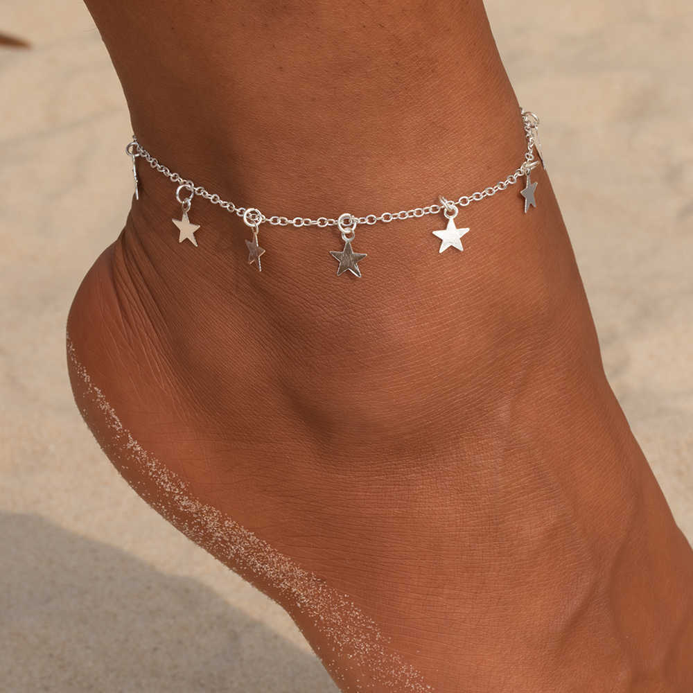 Vienkim Звезда Кулон ножной браслет на ногу цепь лето йога пляж ноги браслет шарм браслеты ювелирные изделия подарок