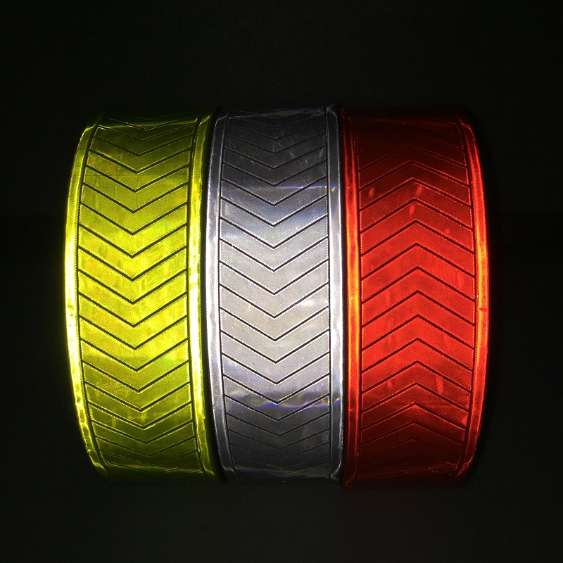 5CM High Visibility Reflective Warning Fluorescent Orange PVC Tape Reflective Safety Vest Strips Popular Clothing Warning Belt