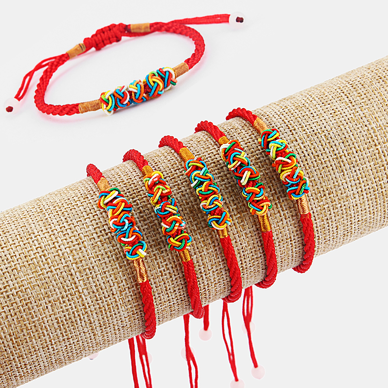 5pcs Ethnic Red Thread String Braided Lucky Bracelet Bangle Anklet Jewellery
