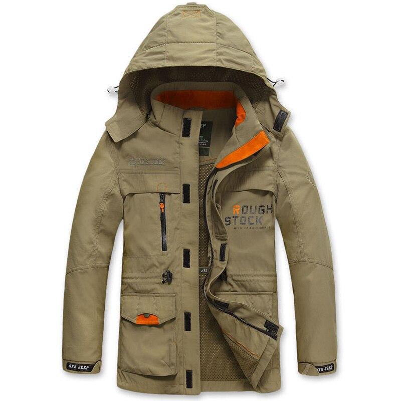Повседневное Курточка бомбер Для мужчин Демисезонный тактические куртки Для мужчин одежда 2018 с капюшоном ветрозащитный ветровка военная ...