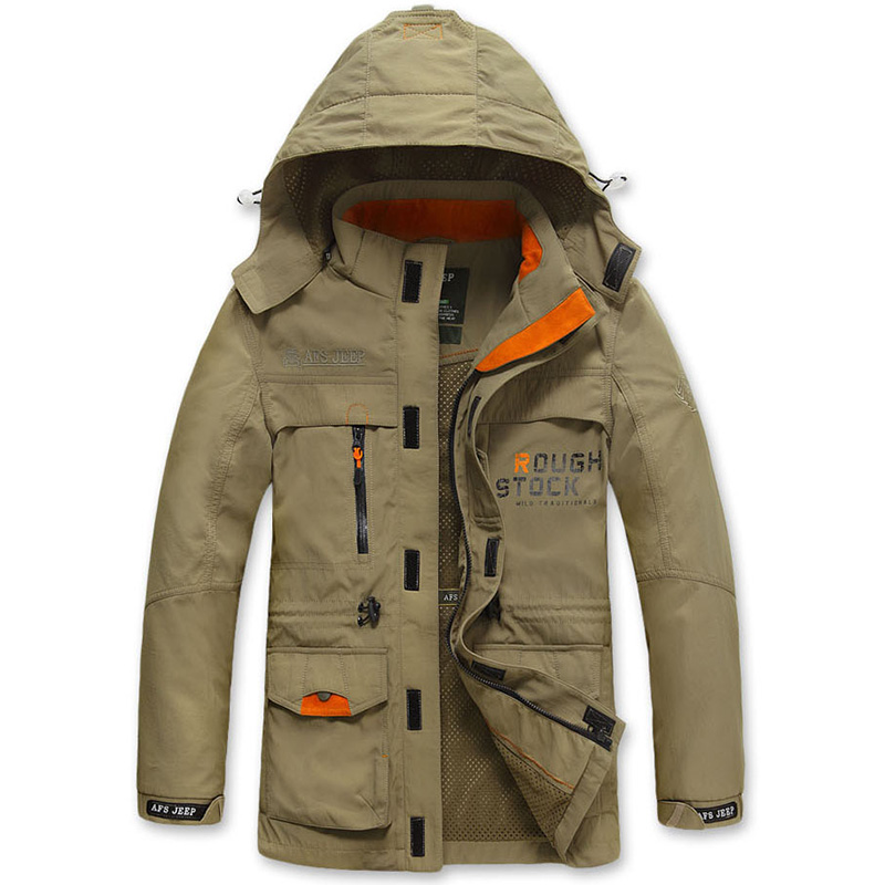 Casual Bomber Jacket Men Spring Autumn Tactical Jackets Men Clothes 2018 Hooded Windproof Windbreaker Military jaqueta masculina