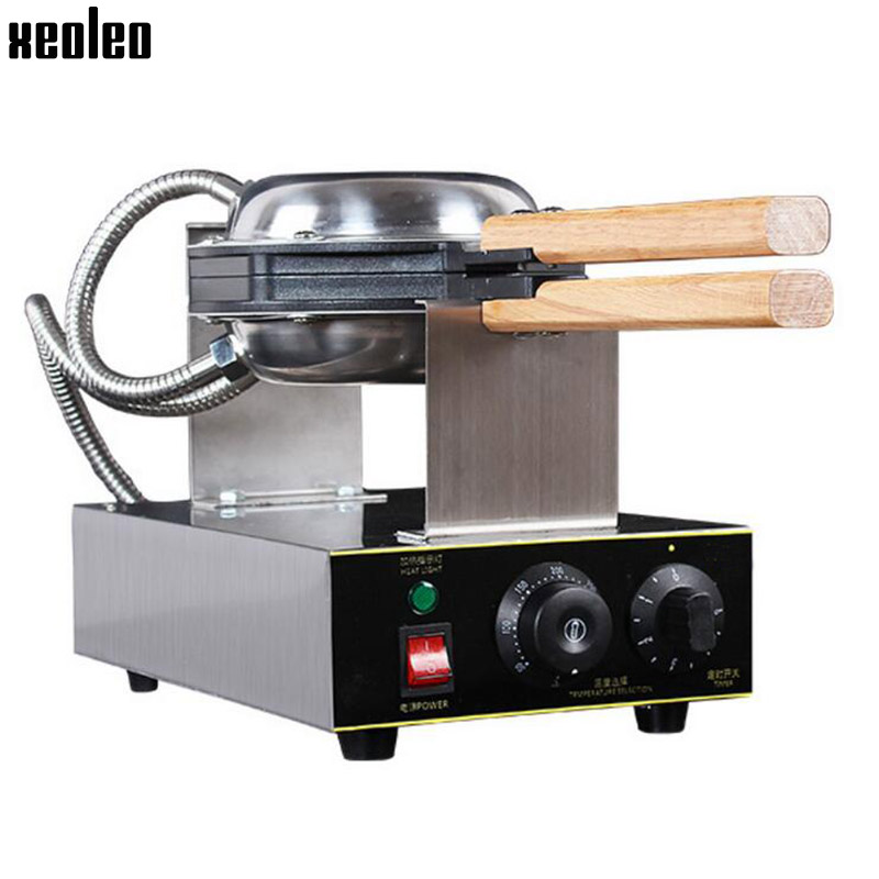 Xeoleo Egg Waffle Maker 1500W Electric Waffle Machine 220V/50-60HZ HK QQ Egg Maker Stainless steel 0-5Min timing Max 300 degree xeoleo commercial induction 3500w stainless steel induction cookers with timing for hotpot soup stewing stir fly