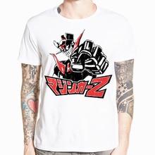 Asian Size Print Mazinger Z t shirt Men Anime T-Shirt Summer Men Tops Boy Short Sleeve t-shirt Top Tee Clothes HCP4489