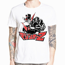 Asian Size Print Mazinger Z t shirt Anime Summer Men Boy Short Sleeve t-shirt  Top Tee d5274f09d24f