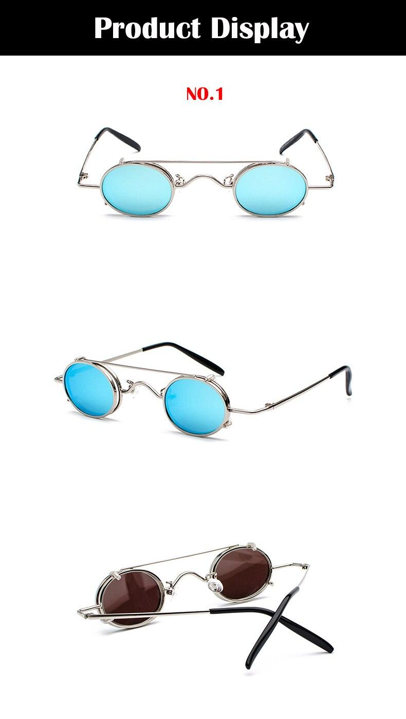 Compre FS YURI YUAN Retro Lente Vermelha Steampunk Óculos De Sol Dos ... 5ef2e438f5