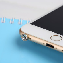 5 piece Universal 3.5mm Diamond Dust Plug Mobile Phone