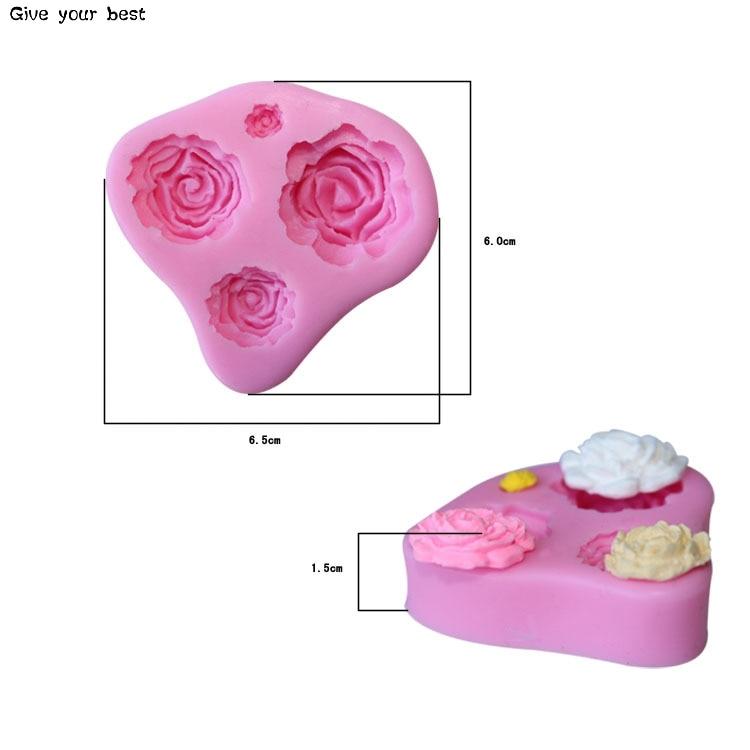 4 розови силиконови фондации за - Кухня, трапезария и бар - Снимка 5