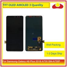 10Pcs/lot DHL For Samsung Galaxy A8 Plus 2018 A730 A8+ LCD Display With Touch Screen Digitizer Panel Monitor Assembly Complete 10pcs lot for samsung galaxy express i8730 lcd display touch screen digitizer without frame grey white color free dhl ems