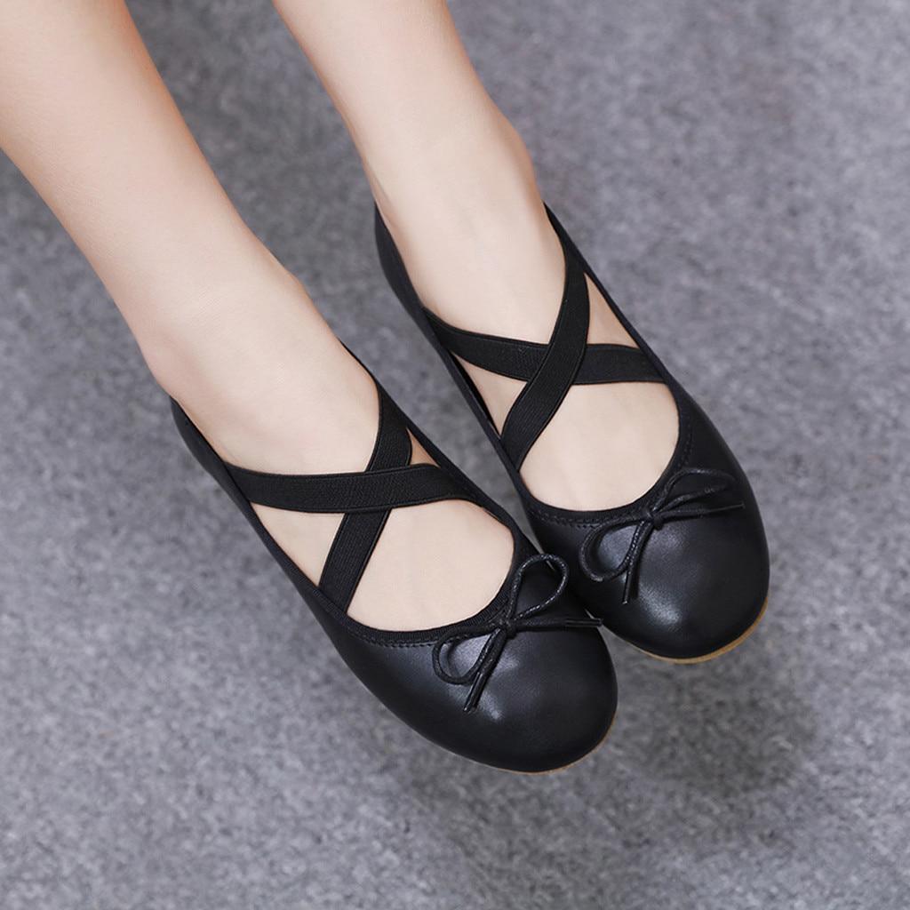 Plat Printemps Belle Femmes Bateau Vogue De Ballet noir Croix Danse Beige Chaussures Sangle Femme Occasionnels Dame qtp1w5