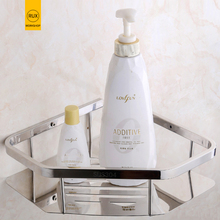 купить bathroom shelf stainless steel shower Shampoo Soap Cosmetic Shelves Bathroom Accessories Storage Organizer Rack Holder дешево