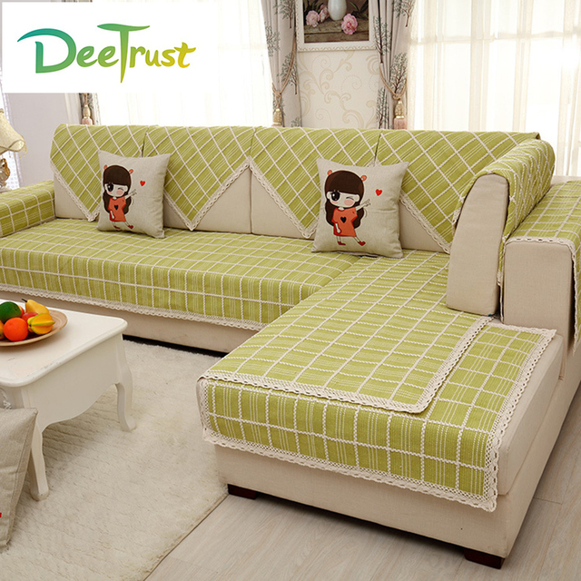 Japan Style Chic Sofa Cover Cotton Linen Fabric Spring Product