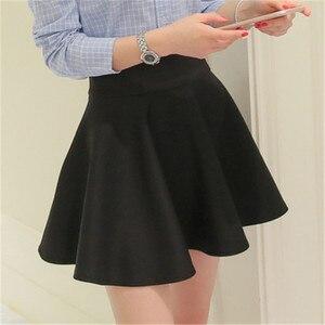 Image 4 - Mùa Hè Hàn Quốc Váy Nữ Gợi Cảm Mini Jupe Femme Váy Xếp Ly Faldas Cortas Saia Vũ Jupe Phối Voan Váy Đáng Etek tutu