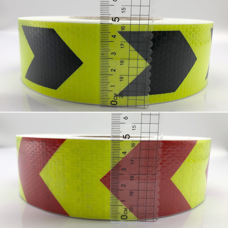 5cm x 30m Fita Etiqueta Fita De Advertência De Segurança Automóvel Motocicletas Carro Material Reflexivo Película Reflexiva Adesivos de Carro