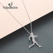Todorova вдохновляющее ожерелье для бегунок, Женское Ожерелье для марафона, кулон для влюбленных, Спортивная бижутерия, Прямая поставка