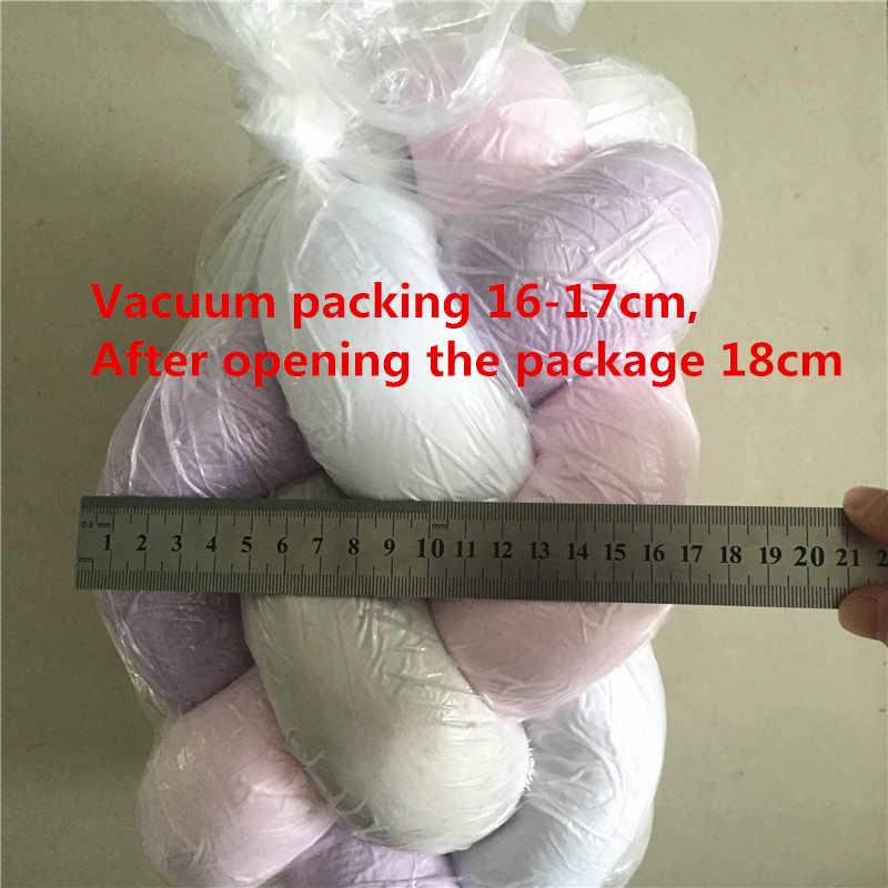 1 M/2 M/3 M cuna trenzada parachoques nudo almohada cojín, cuatro atado recién nacido Ropa de cama, cuna habitación Dector