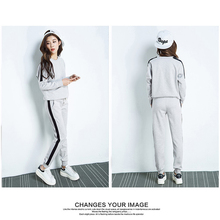Autumn Winter Tracksuit Long Sleeve Stitching Sweatshirts Casual Suit Women Clothing 2 Piece Set Tops+Pants Sporting Suit Female