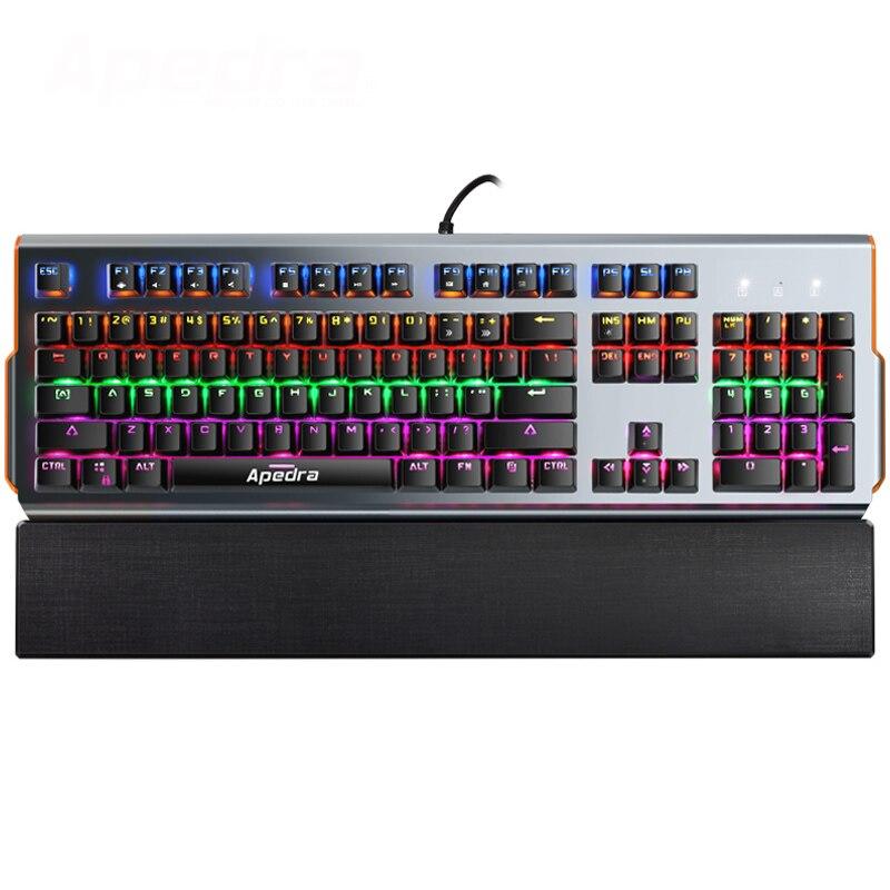 Apedra MKX90 Teclado mecánico de 104 teclas RGB Interruptor azul LED - Periféricos de la computadora - foto 2