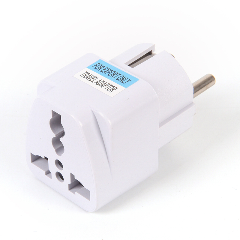 Universal US UK AU To EU Plug USA To Euro Europe Travel Wall AC Power Charger Outlet Adapter Converter 2 Round Pin image