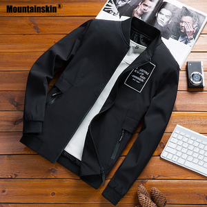 Image 2 - Mountainskin מעילי Mens טייס מפציץ מעיל זכר אופנה בייסבול היפ הופ Streetwear מעילי Slim Fit מעיל מותג בגדי SA680