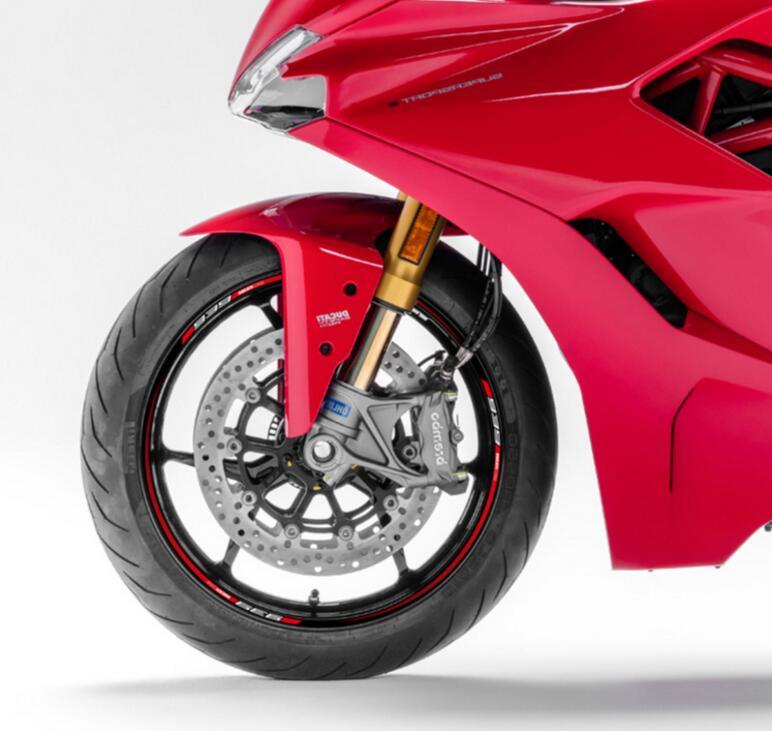 13pcs Custom Motorcycle Wheel Sticker Stripe Reflective Rim For DUCATI Supersport 939 A Set