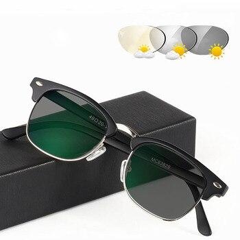 4ee9bde01b Nueva transición gafas de sol fotocromáticos a gris gafas de lectura  hombres mujeres presbicia gafas dioptrías gafas marco