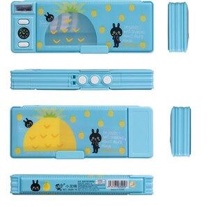 Image 5 - 1pc criativo codificado bloqueio caixa de lápis de dois lados agradável qualidade plástico crianças estudante meninos e meninas presente papelaria caneta caso