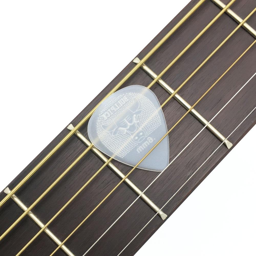 12pcs Bull Head 0.6mm 0.73mm Guitar Pick Super Durable Nylon Non-slip Design Mediator Acoustic Electric Guitarra Strings Strum