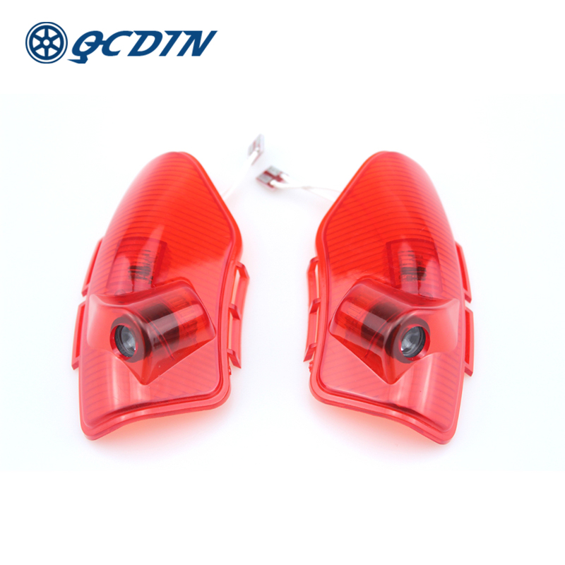 QCDIN For KIA Car LED Door Welcome Logo Light Laser Shadow Projector Light For KIA OPTIMA K5 CERATO Sorento Quick Installation