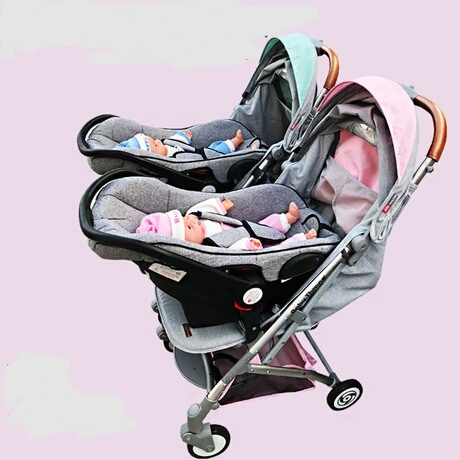 Twins Baby Stroller Activity Gear Folding 3C Prams For Newborns Hot Mom