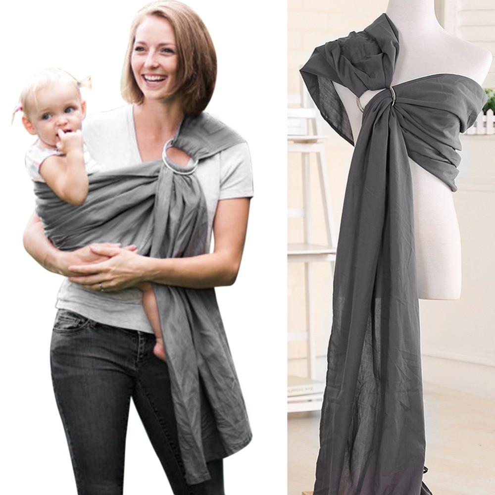 Bébé bébé écharpe enveloppement doux naturel enveloppement mode mère porte-bébé 0-2 ans respirant coton Hipseat couverture d'allaitement