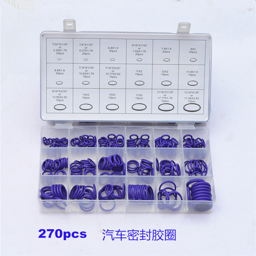 high Quality 270 pcs Car Styling Rubber O Ring Seals Watertightness Assortment Different Size With Plactic Box Kit  high quality 270 pcs car styling rubber o ring seals watertightness assortment different size with plactic box kit