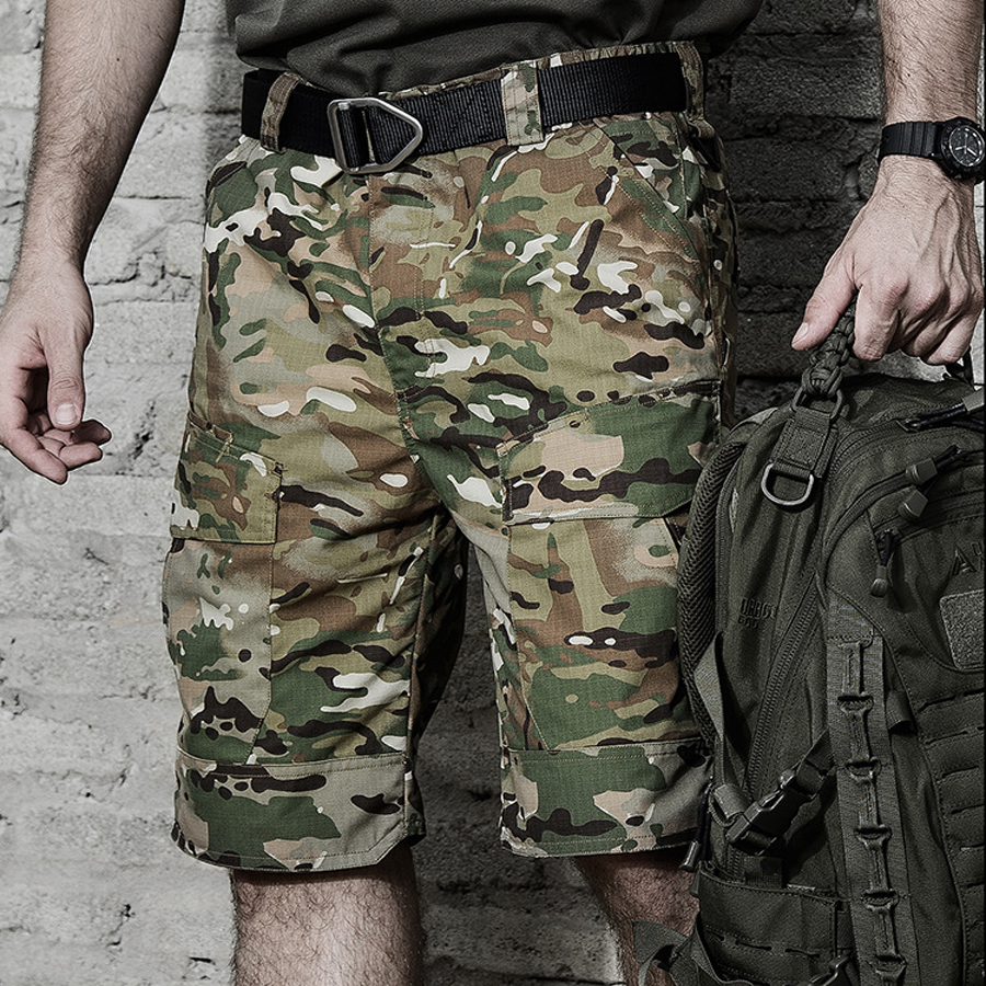 Tactical Shorts Military Cargo Shorts Men Army Camouflage Male Special Police Militar Clothing Pockets Casual Shorts Tactiques